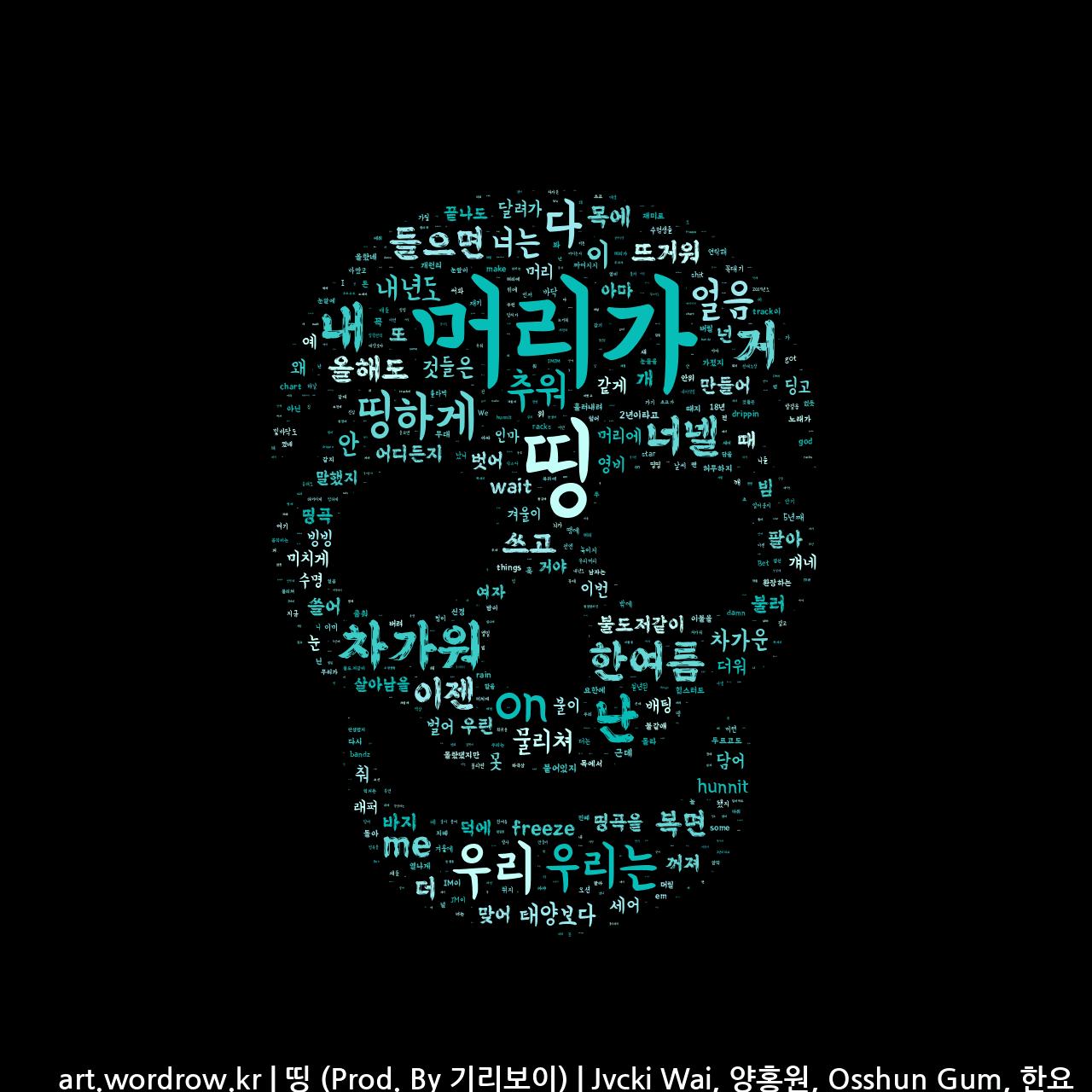 워드 아트: 띵 (Prod. By 기리보이) [Jvcki Wai, 양홍원, Osshun Gum, 한요한]-57